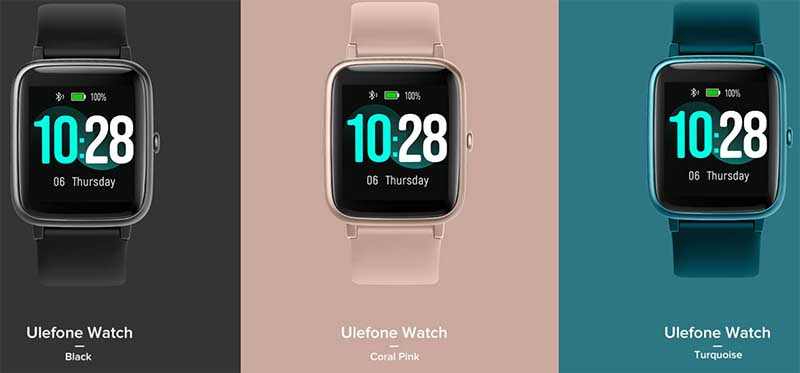 Цвета Ulefone Watch