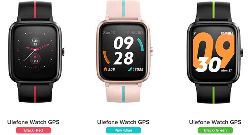 Цвета Ulefone Watch GPS