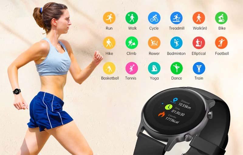 Umidigi Urun: фитнес-часы с GPS, SpO2, компасом и 5 АТМ за $40