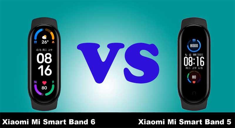 Сравнение Xiaomi Mi Band 6 и Xiaomi Mi Band 5