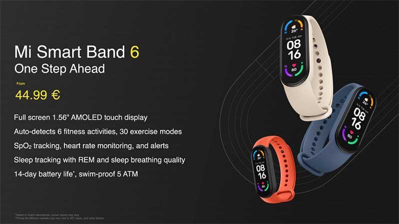 Xiaomi Mi Band 6 vs Xiaomi Mi Band 5: цена