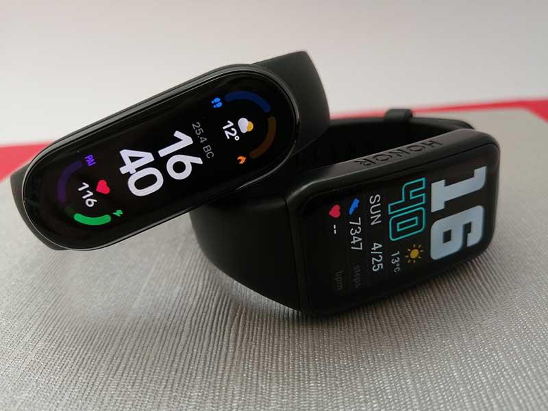 Сравнение фитнес-браслетов Xiaomi Mi Smart Band 6, Honor Band 6 и Huawei Band 6 5