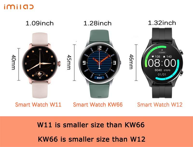 Imilab W12 Smart Watch: смарт-часы с 1,32-дюймовым экраном, IP68 и SpO2 1