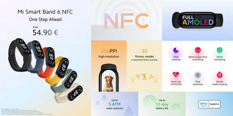 Xiaomi выпустила европейскую версию Xiaomi Mi Band 6 NFC 1