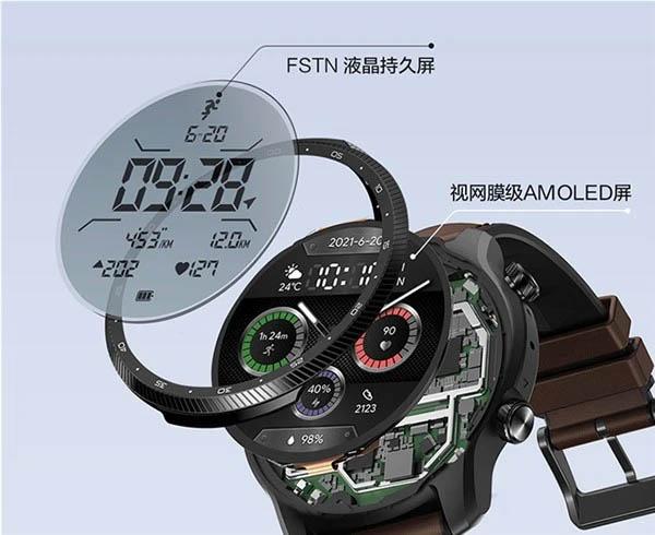 Выпущены смарт-часы Mobvoi TicWatch Pro X с двумя экранами и процессором Snapdragon Wear 4100 за 370 долларов 1